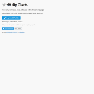 All My Tweets - View all your tweets on one page.
