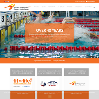 World Transplant Games Federation - Powered by the gift of life