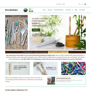 Brush With Bamboo - Plant-Based Bamboo Toothbrushes