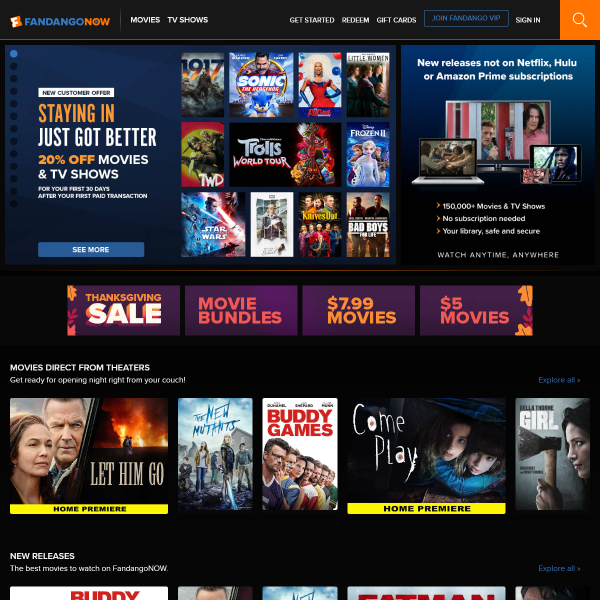 FandangoNOW - Watch Movies and TV Online