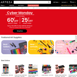 Art Supplies- Paint, Markers, Crafting - ARTEZA