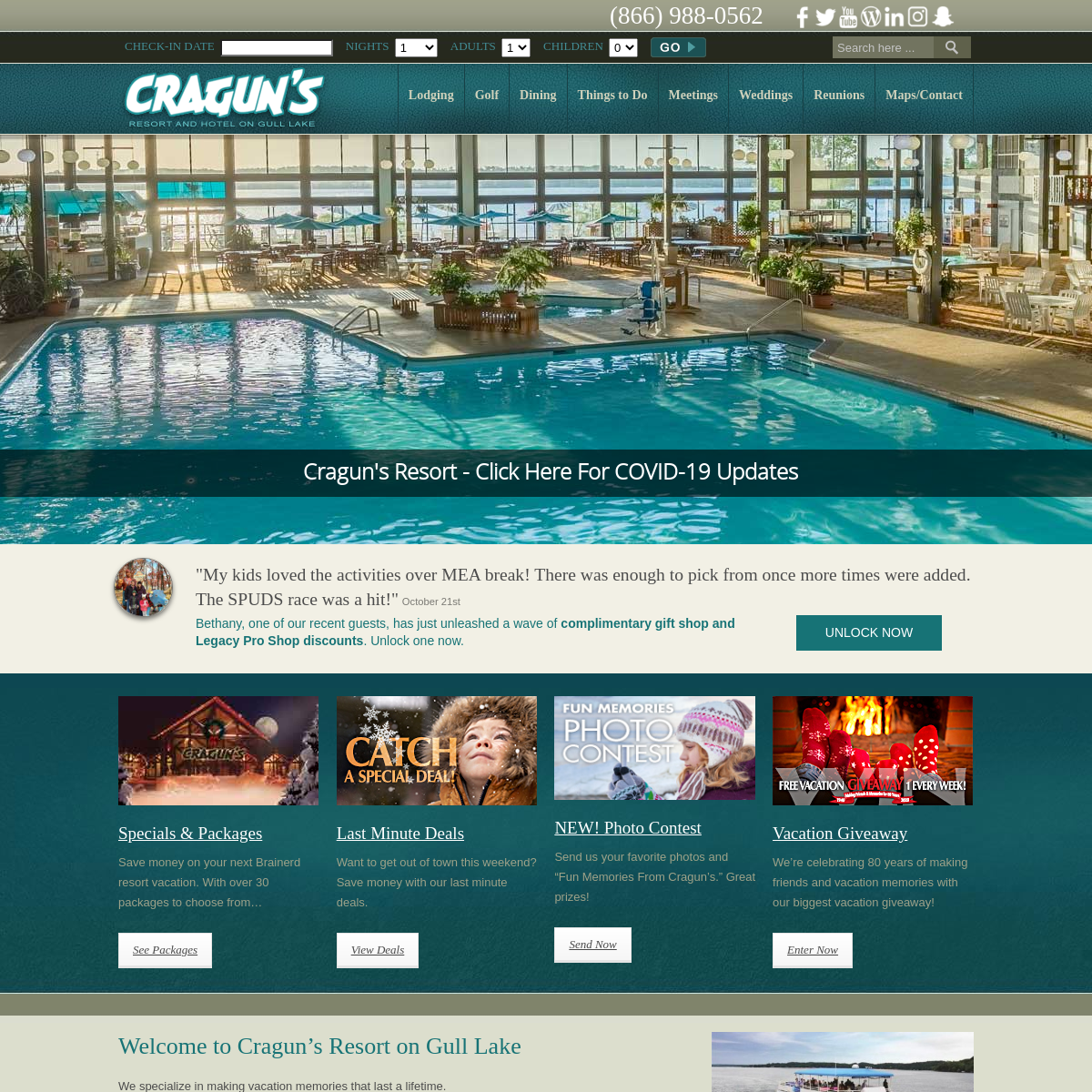 Cragun`s Resort On Gull Lake - Cragun`s - Brainerd MN Hotels