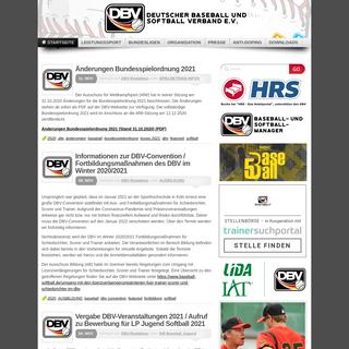 Deutscher Baseball & Softball Verband eV -DBV