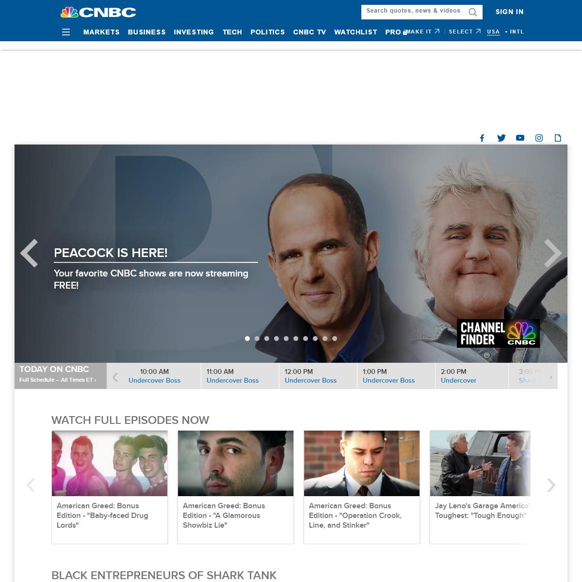 CNBC U.S. Primetime Entertainment Shows TV Official Site