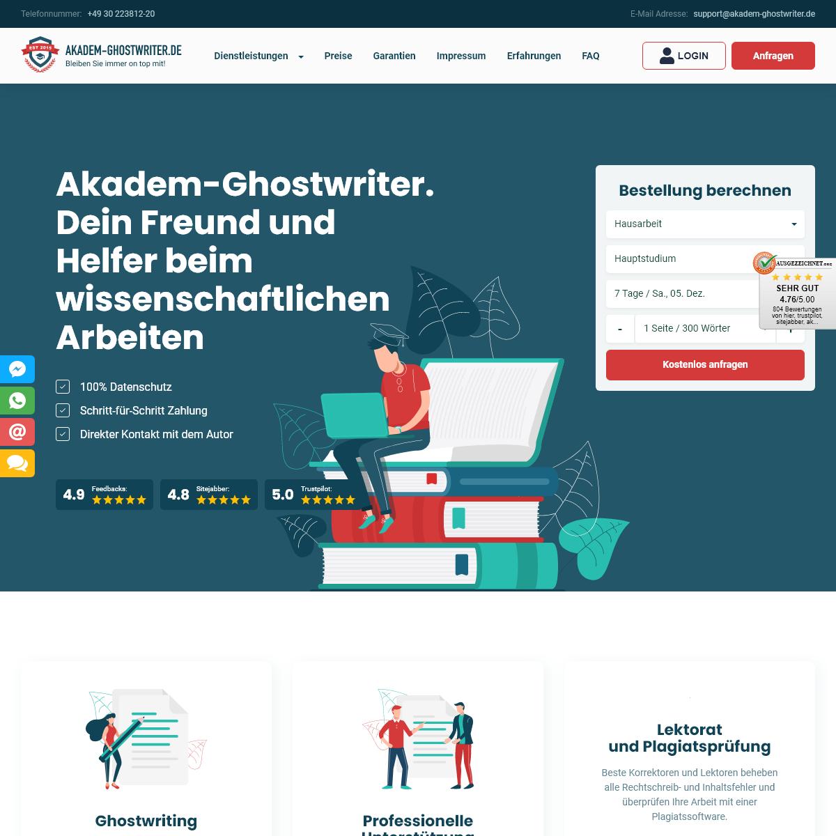 Ghostwriter gesucht- Agentur Akadem-Ghostwriter!