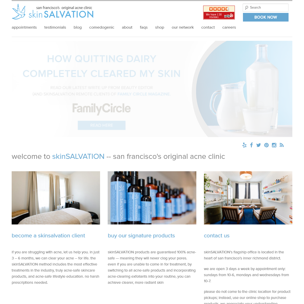skinSALVATION San Francisco - san francisco`s original acne clinic