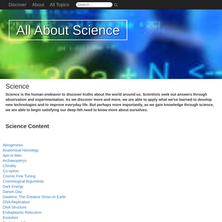 Science - AllAboutScience.org