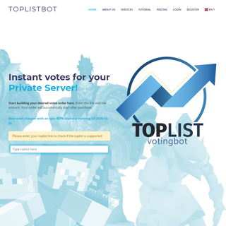 The best voting service to increase your rank on any toplist, very easy to buy on toplists, all automated with the best customer