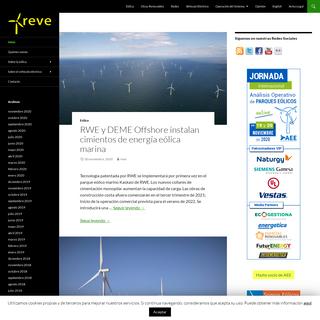 REVE Actualidad del sector eólico en España y en el mundo