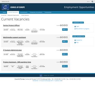 Vacancy Listing
