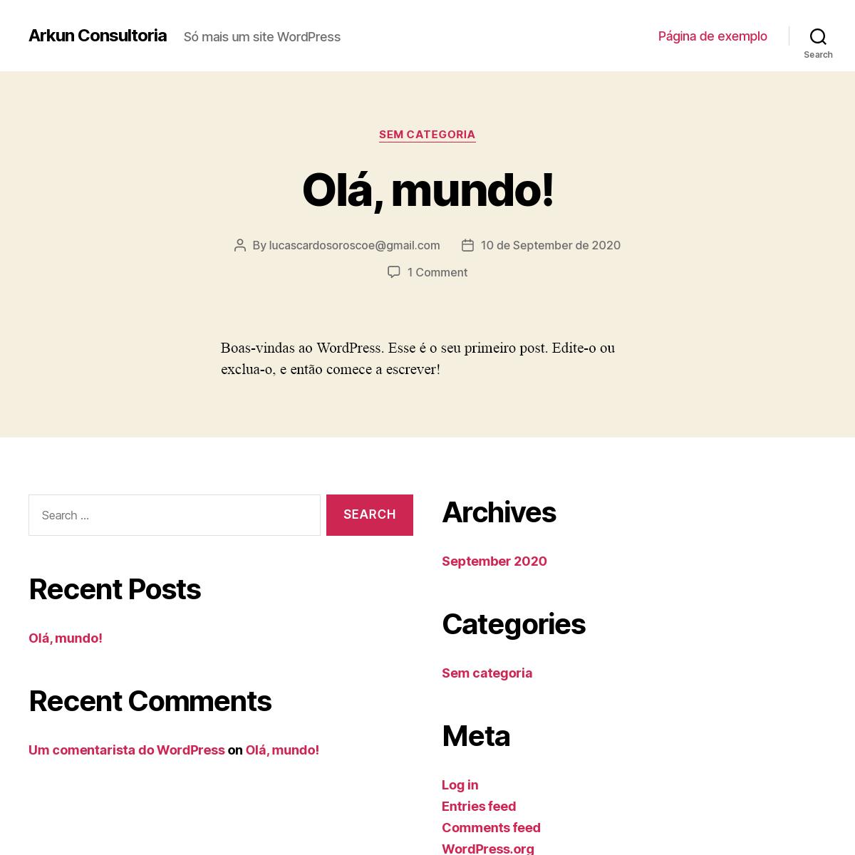 Arkun Consultoria – Só mais um site WordPress