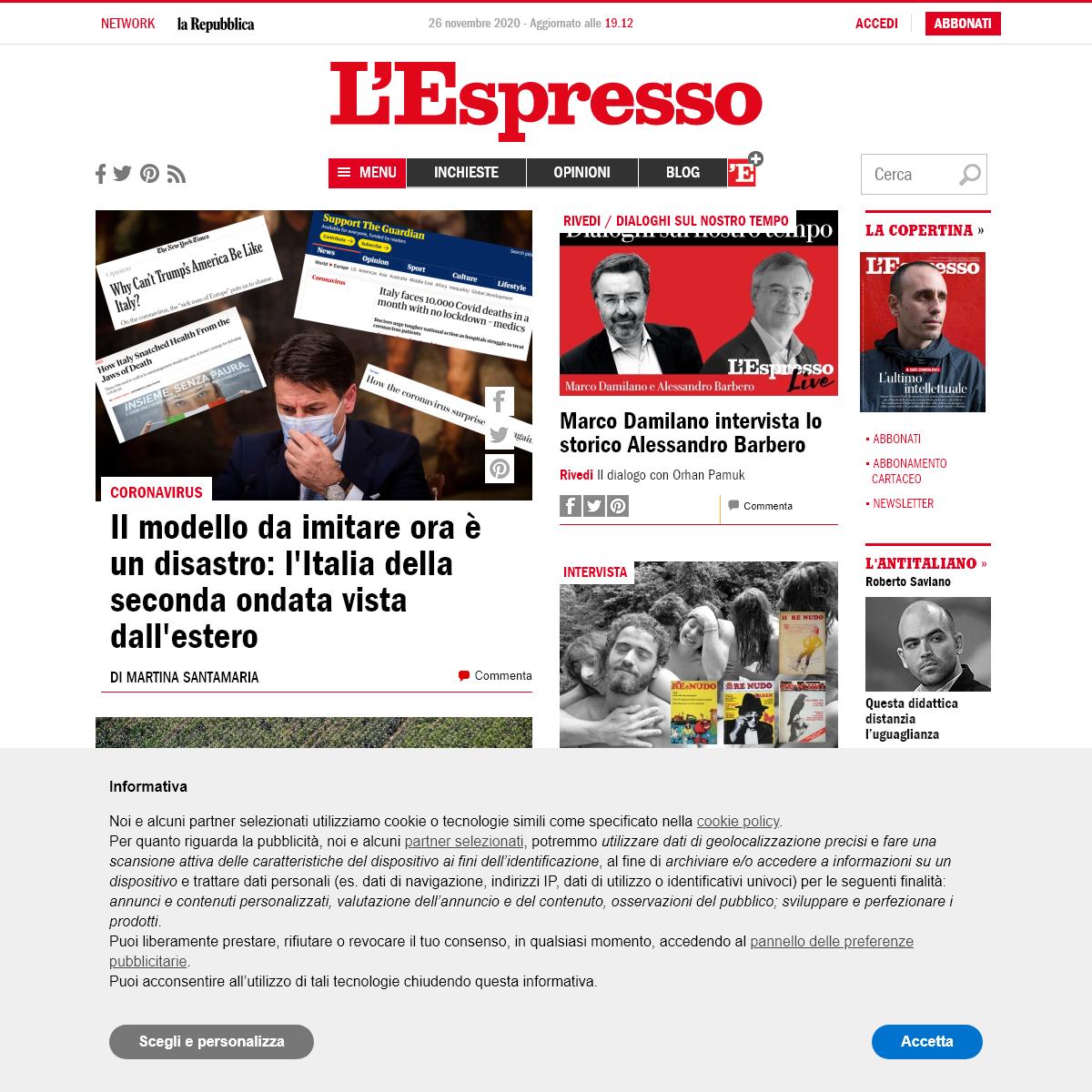 l`Espresso - News e approfondimenti
