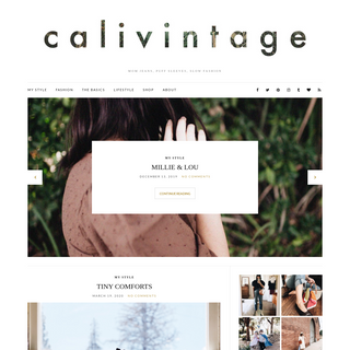 calivintage - MOM JEANS, PUFF SLEEVES, SLOW FASHION