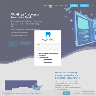 AcyMailing - Best WordPress and Joomla! newsletter plugin