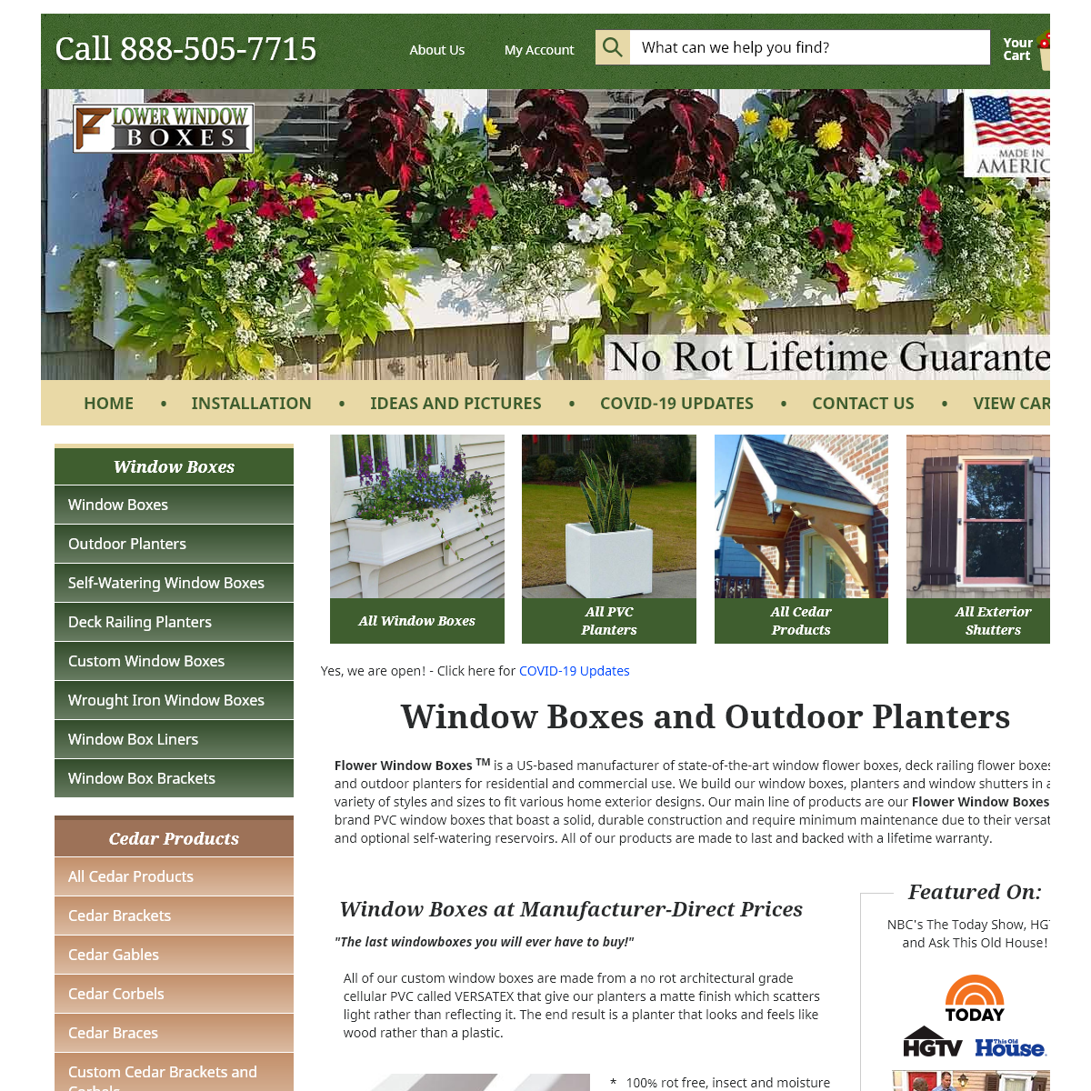 Window Boxes, Railing Flower Boxes and Outdoor Planters