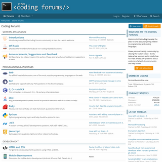 Coding Forums