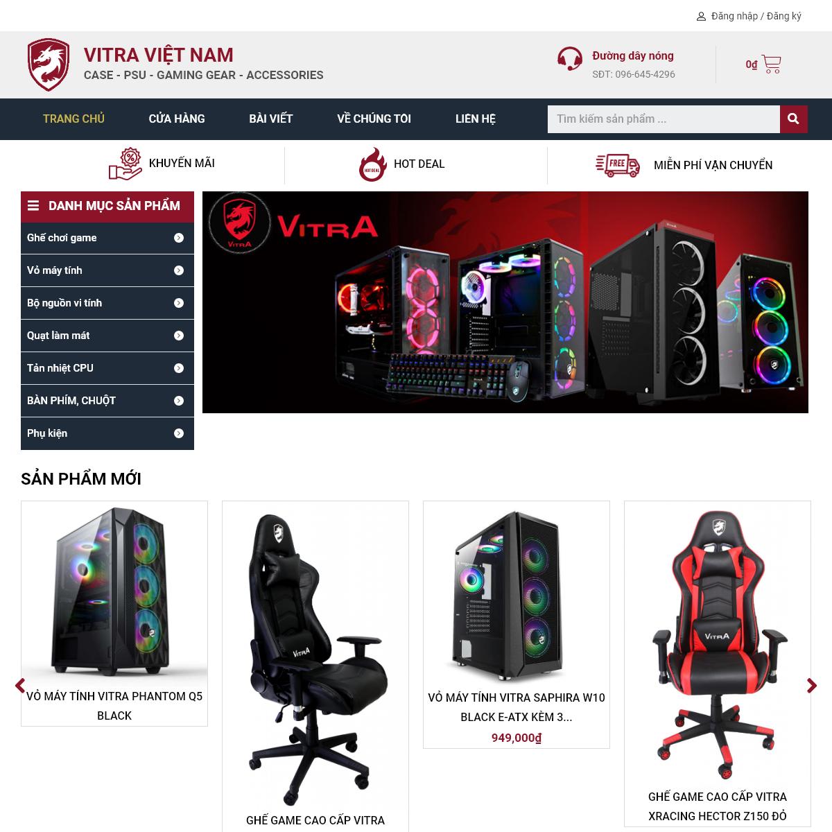 Vitra Việt Nam – Case – Nguồn – Tản nhiệt – Gaming – Highend
