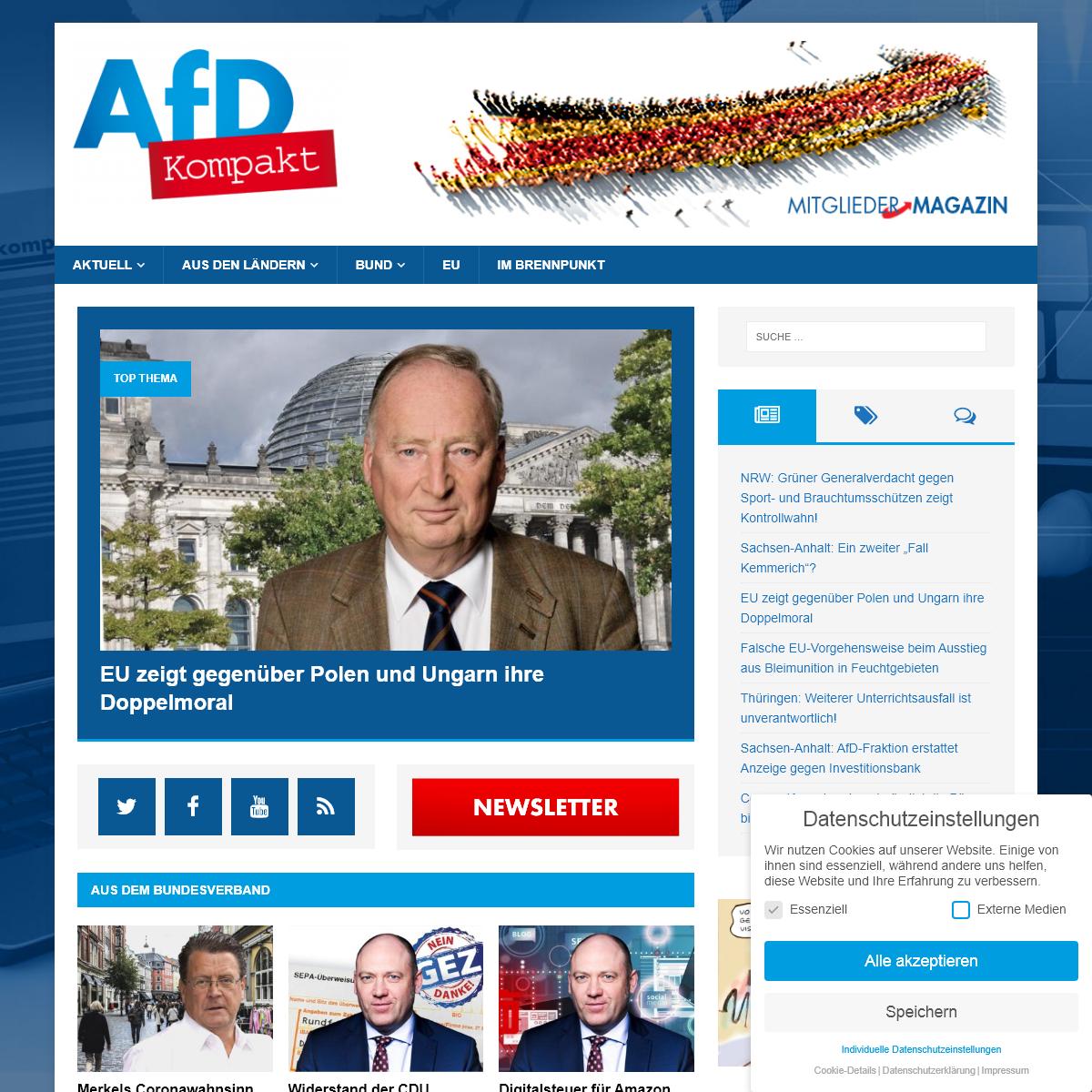 AfD Kompakt - Das Mitgliedermagazin der Alternative für Deutschland