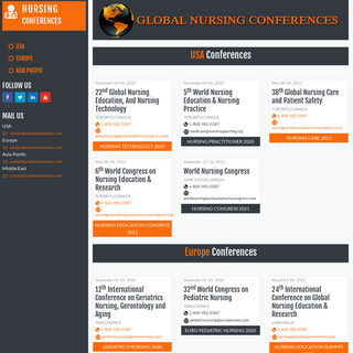 Nursing Conferences - Nursing Conferences - Nursing Meetings - Best Nursing Conferences - Asia Pacific - Middle East - Europe -