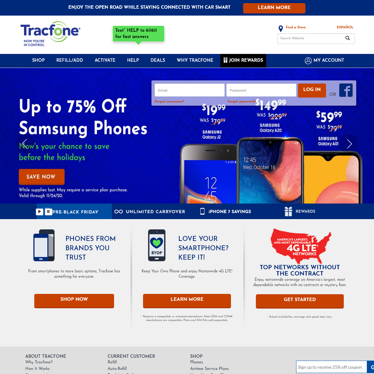 No Contract Cell Phones & Plans - Tracfone Wireless
