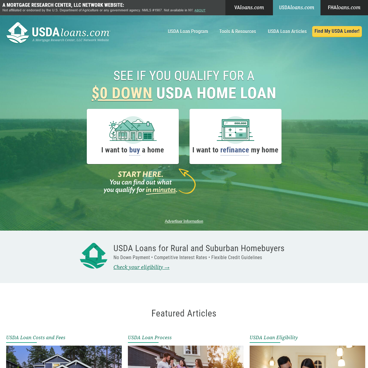 USDA Home Loans from the Specialists at USDALoans.com