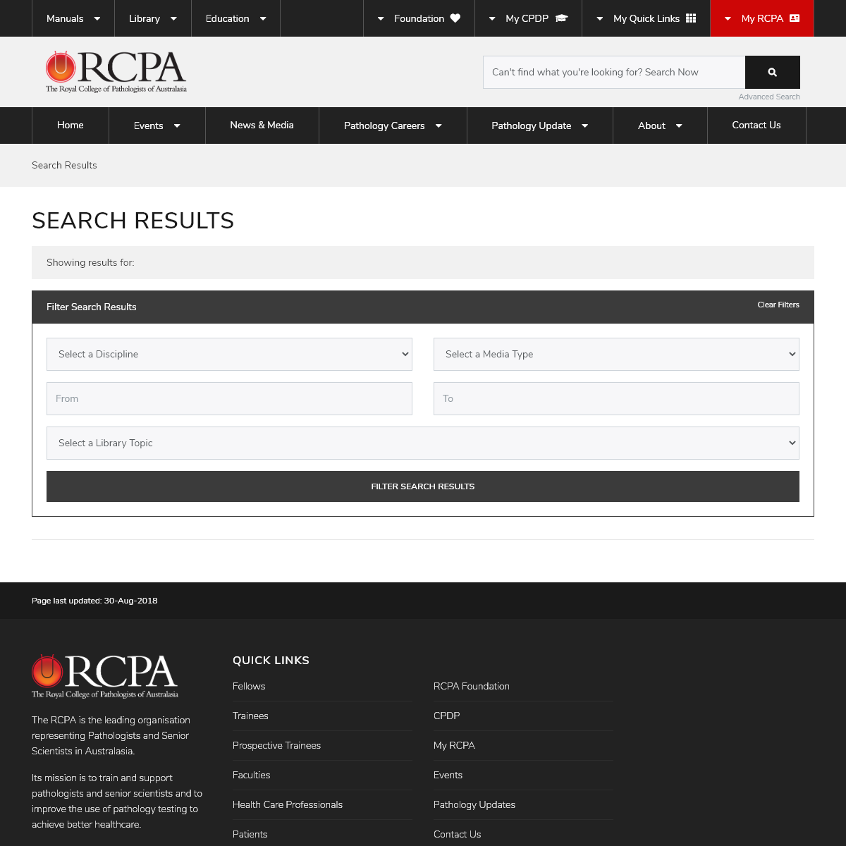 RCPA - Search Results