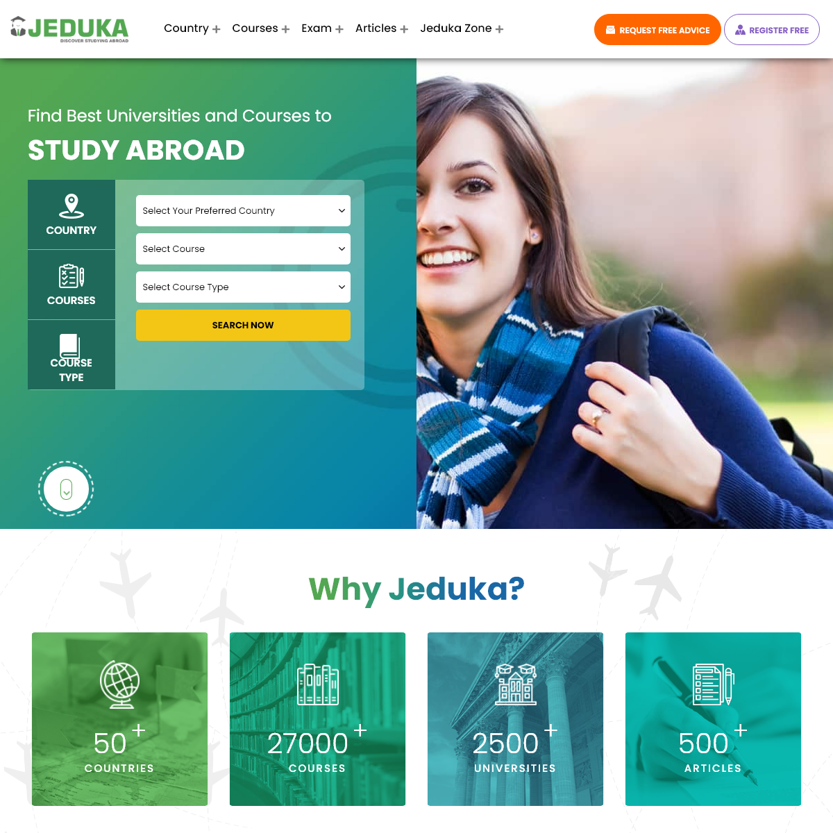 Study Abroad - Universities, Courses, Exams & Scholarships