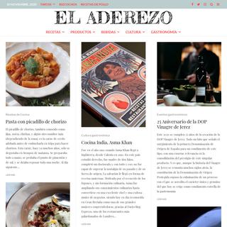 El Aderezo - Blog de Cocina, Gastronomía y Recetas -