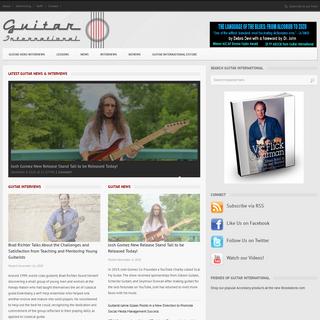 Guitar Magazine - Guitar News, Interviews & Reviews - Guitar International