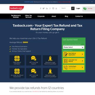Professional Tax Refund and Tax Return Services - Taxback.com