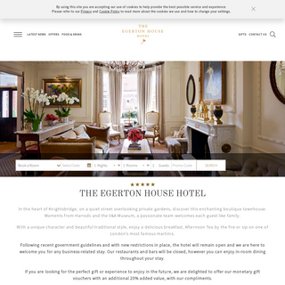The Egerton House Hotel - Luxury Hotel Knightsbridge London