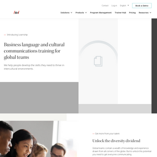 Business language and cross-cultural training - Learnship