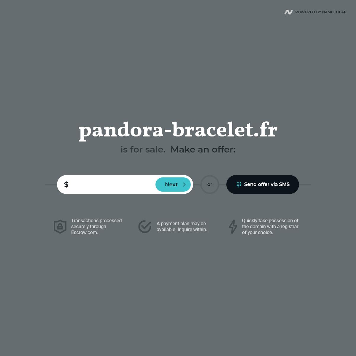 pandora-bracelet.fr is for sale