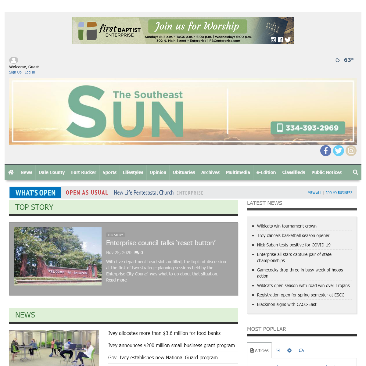 southeastsun.com - Committed to covering our community