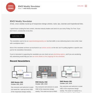 RWD Weekly Newsletter - Responsive Web Design