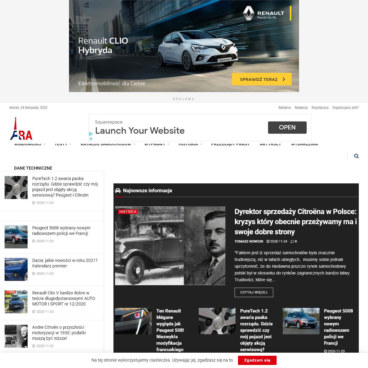 Francuskie.pl – Dziennik Motoryzacyjny – aktualności, testy, przeglądy prasy. Wszystko o francuskiej motoryzacji.