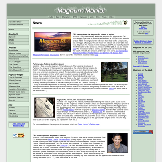 Magnum Mania! For All Things Magnum P.I.