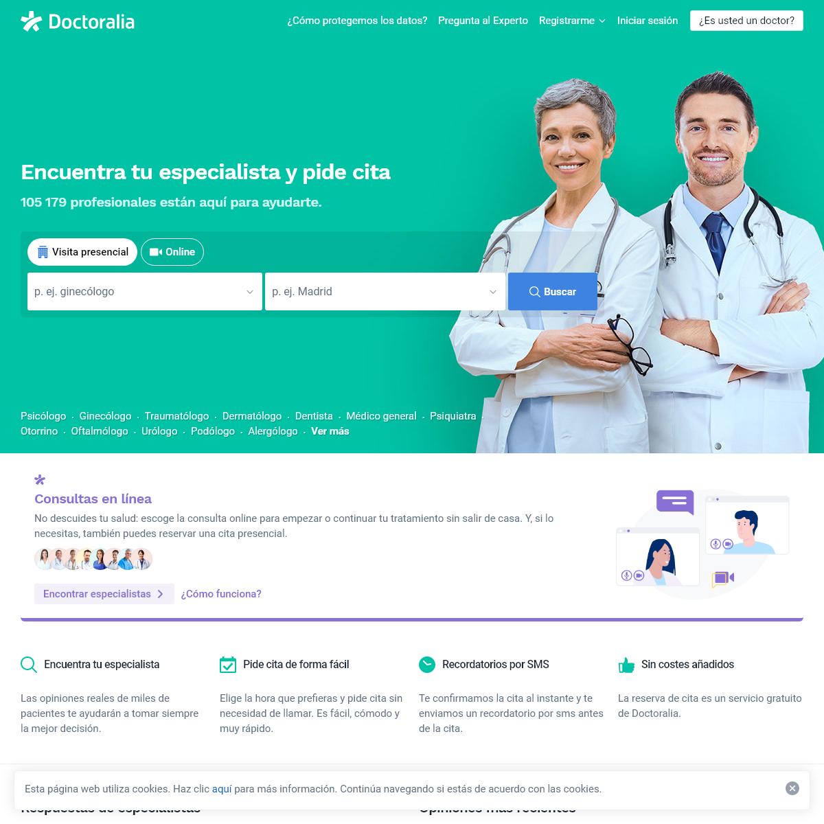 Doctoralia - Encuentra especialista - Pide cita médica