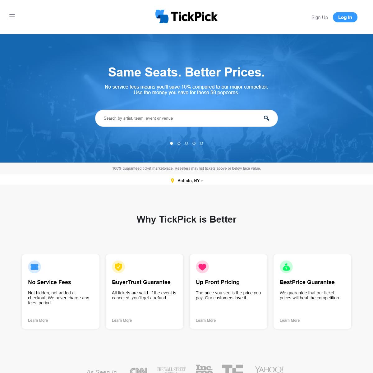 TickPick - No-Fee Live Event Tickets