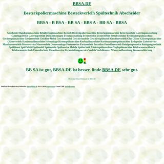 bbsa Besteckpoliermaschine Besteckverleih Spültechnik Abscheider Spülmobil Verleih Geschirrmobil Mieten