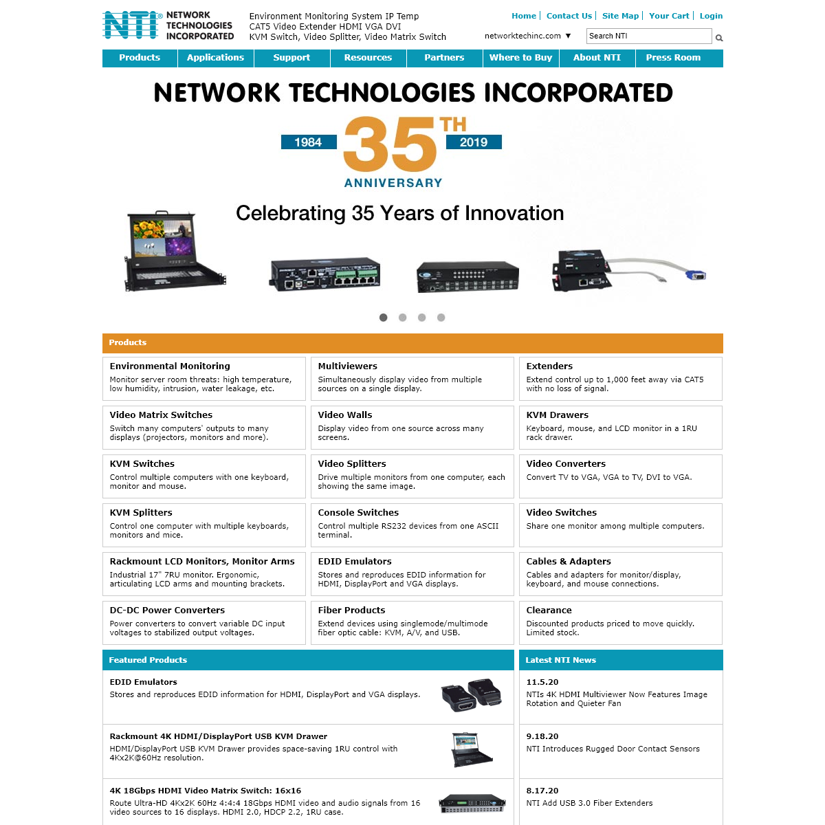 NTI Network Technologies Inc Environment Monitoring HDMI Extender
