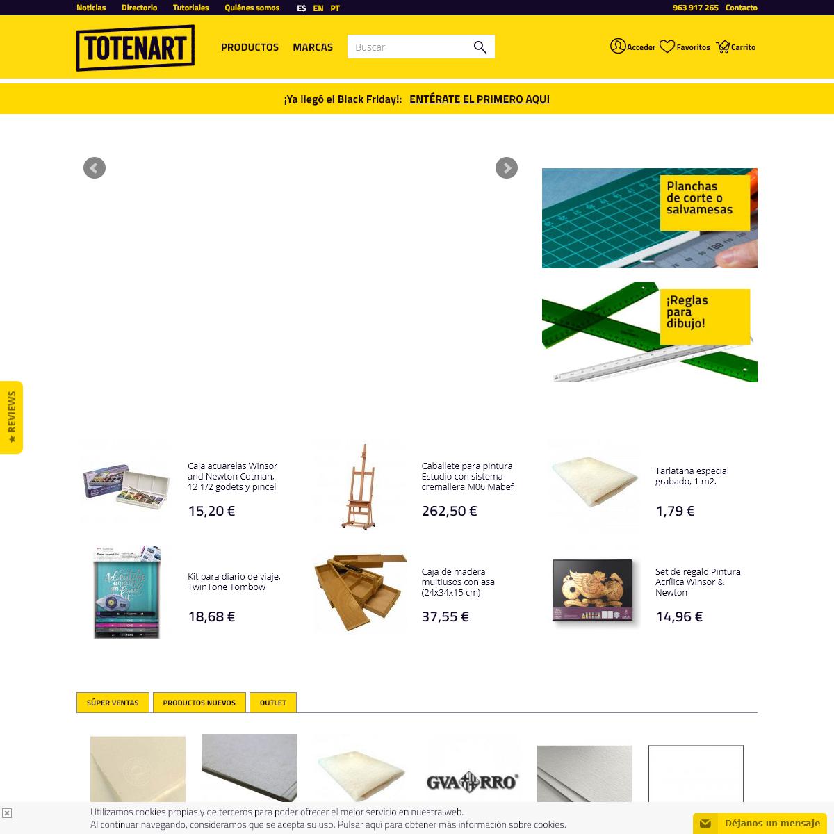 Totenart, Tienda Online material Bellas Artes y Manualidades