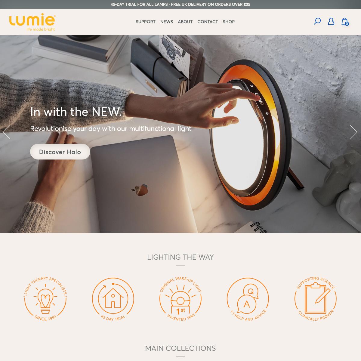 Bodyclock wake-up lights, SAD lamps, Skincare Light Therapy – Lumie