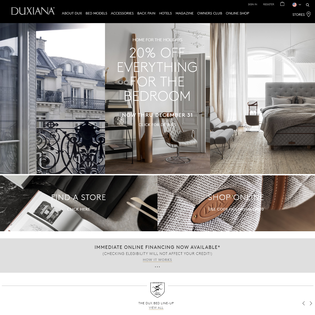 DUX® of Sweden - The Best Mattress & Luxury Bed - only at DUXIANA®