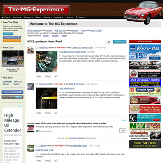 The MG Experience - Your Online Car Club