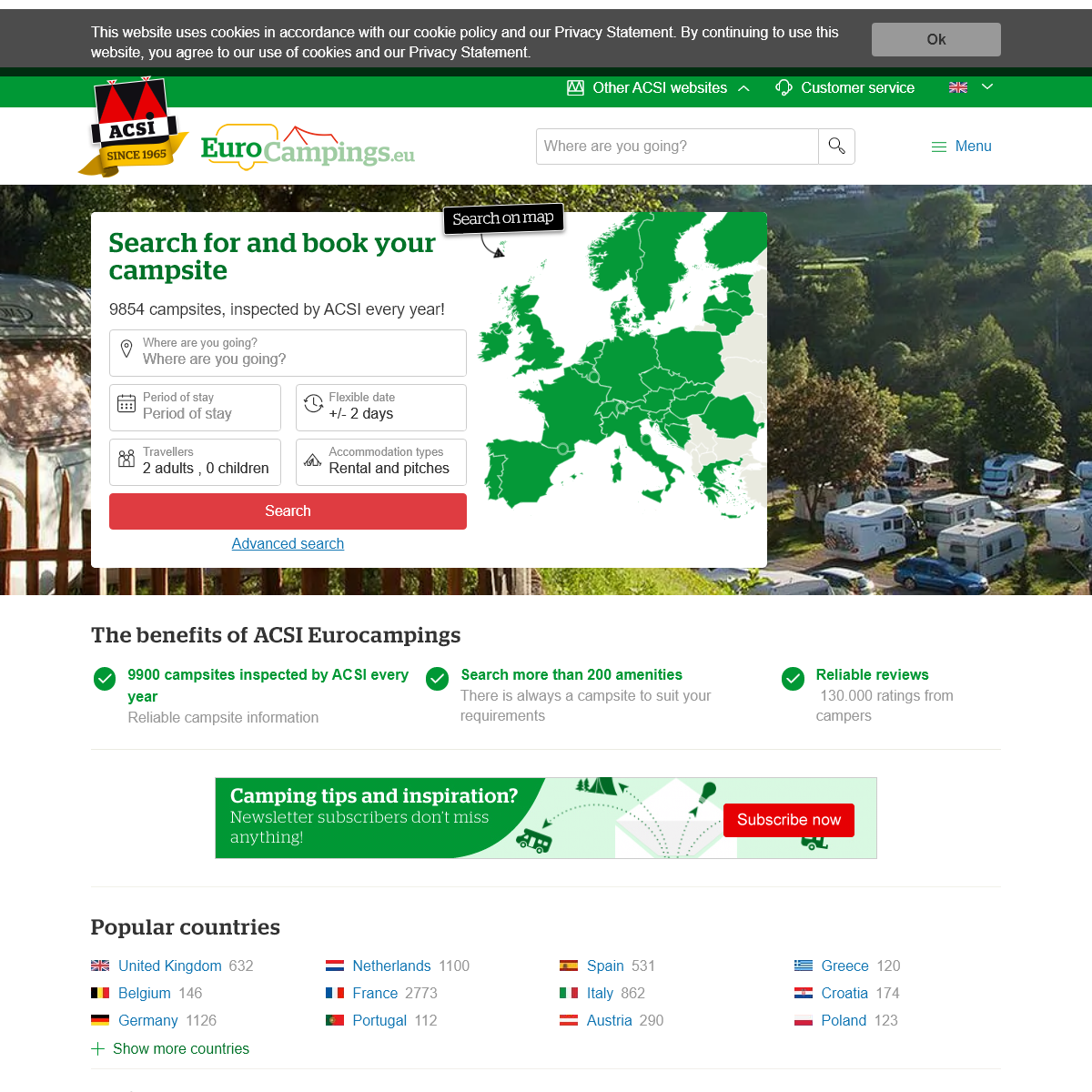 ACSI Eurocampings - Find and book your ideal campsite in Europe!