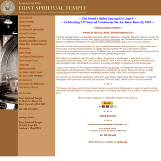 First Spiritual Temple Home Page
