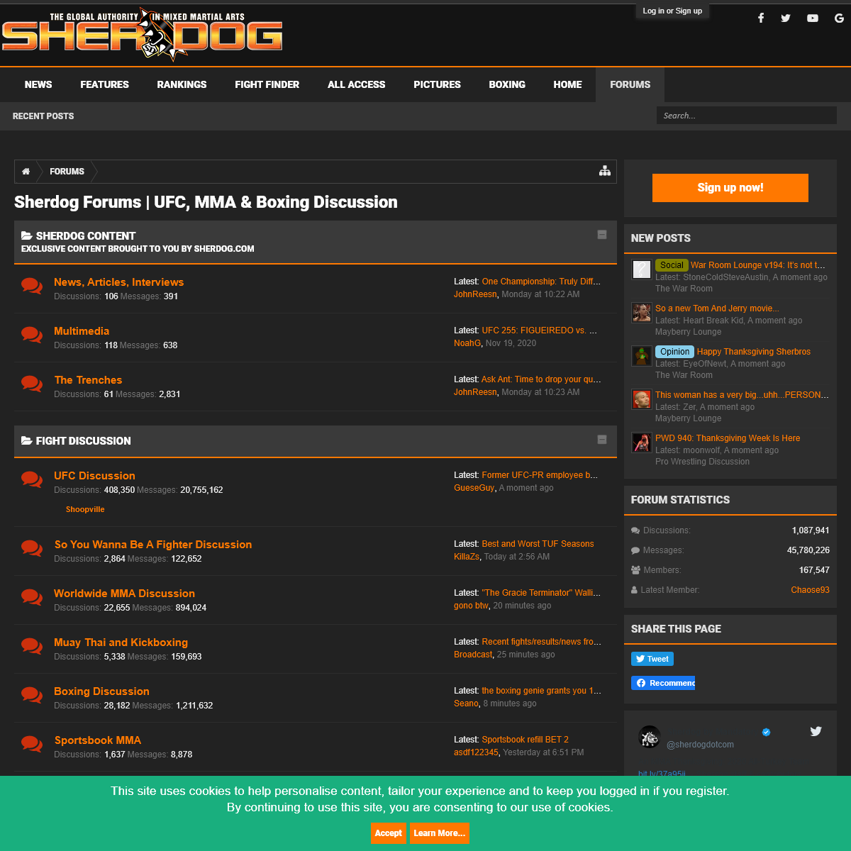 Sherdog Forums - UFC, MMA & Boxing Discussion