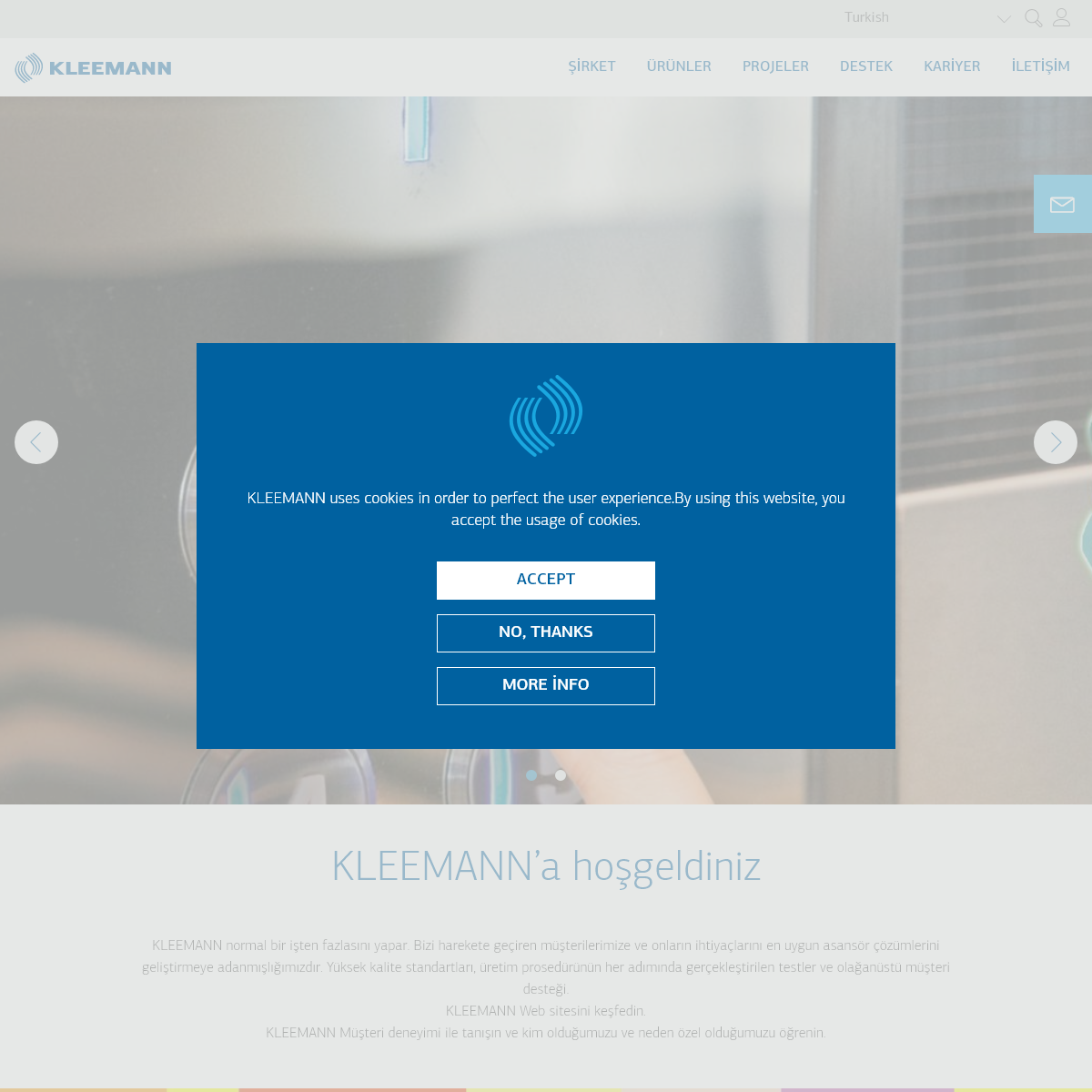 Elevators, Cabins, Custom Solutions, Modernization - KLEEMANN