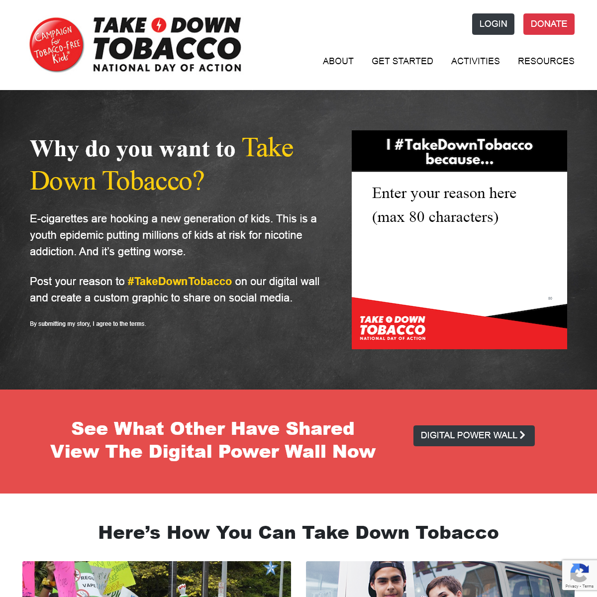 Stand up and speak out against the tobacco… - Take Down Tobacco